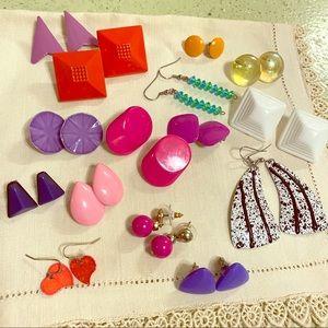 🌸lot 15 pair vintage  earrings